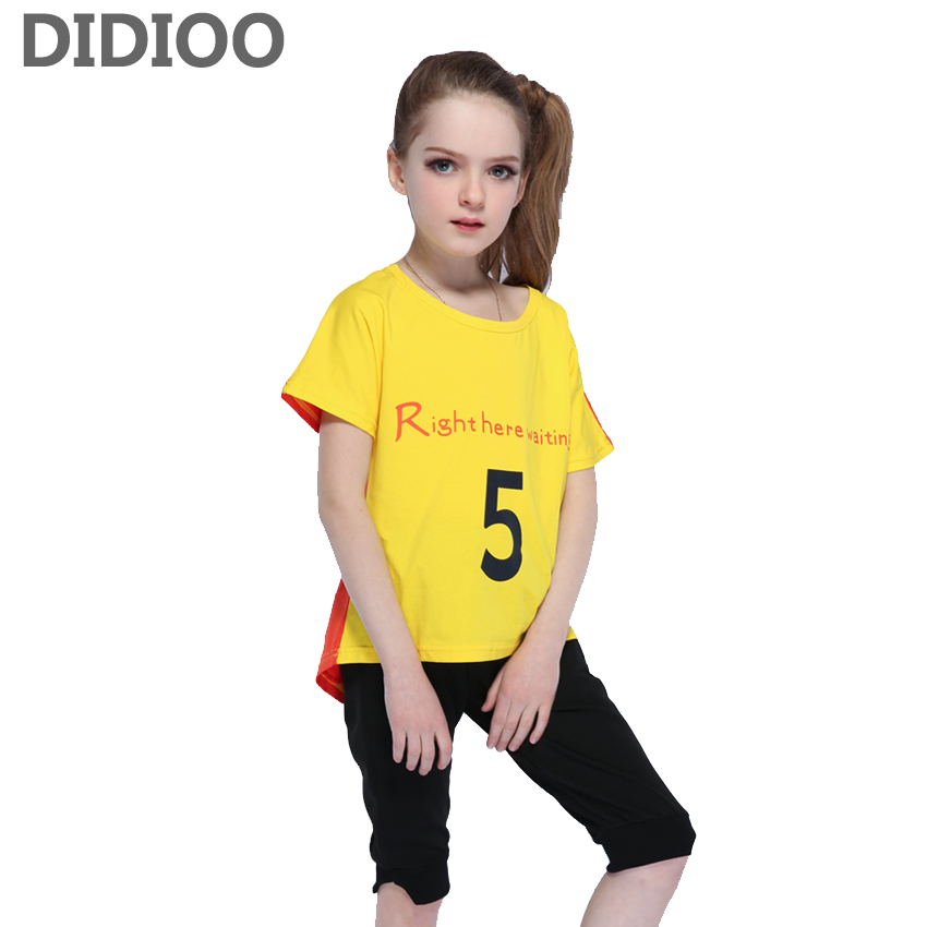 Girls Clothing Sets Kids Summer Letter Tops Pants Suits Baby Clothes Set for Girls T-shirts Trousers Tracksuits Children Outfits