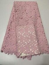 Лидер продаж 2020, высококачественные африканские кружевные ткани, гипюровые кружевные ткани, нигерийская кружевная ткань для женского платья CD2972