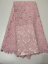 Hot Sale 2020 High Quality African Cord Lace Fabrics Guipure Lace Fabrics Nigerian Lace Fabric for Women Dress CD2972