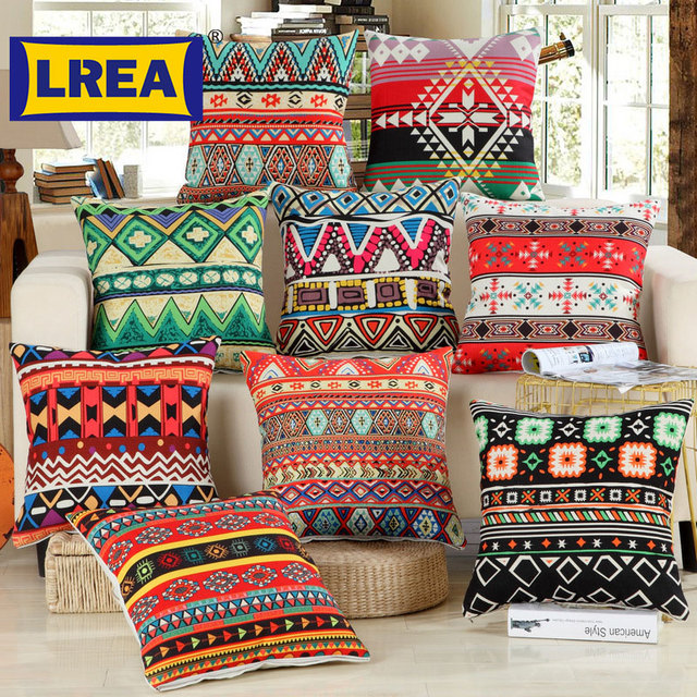 Brand Bohemian Style Cushion Cover Set Pionate Fl Printed African Throw Pillow Case