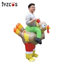 JYZCOS Turkey Inflatable Costume Christmas Halloween Costumes for Women Man Party Cosplay