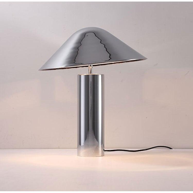 Современные E27 Настольные лампы Bedlamp гостиной спальня исследование настольная гриб настольные лампы черный цвета розового золота Серебрян...