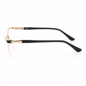 Image 2 - 猫の目のスタイル女性の光学ガラスは金属メガネフレーム女性処方眼鏡クリア近視2021コンピュータ眼鏡