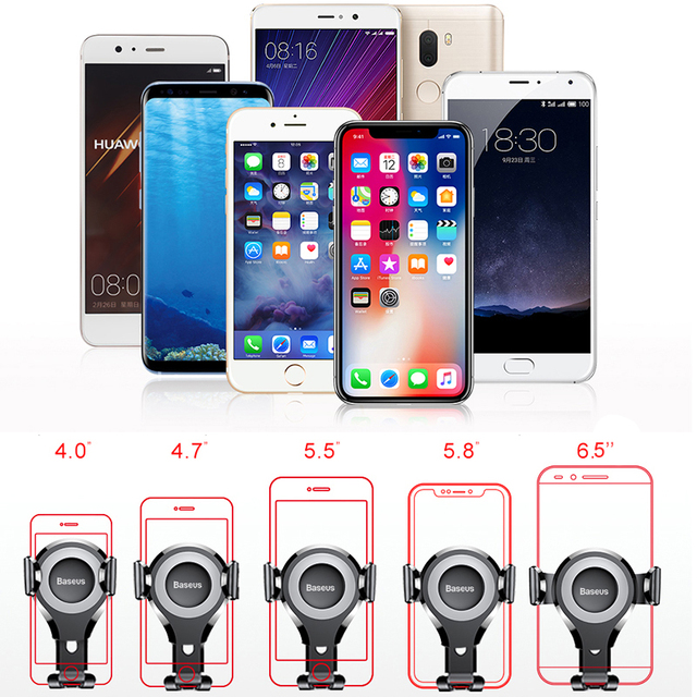 Baseus Gravity Car Phone Holder For iPhone 11 Pro Max Samsung Suction Cup Car Holder For Phone in Car Mobile Phone Holder Stand 5