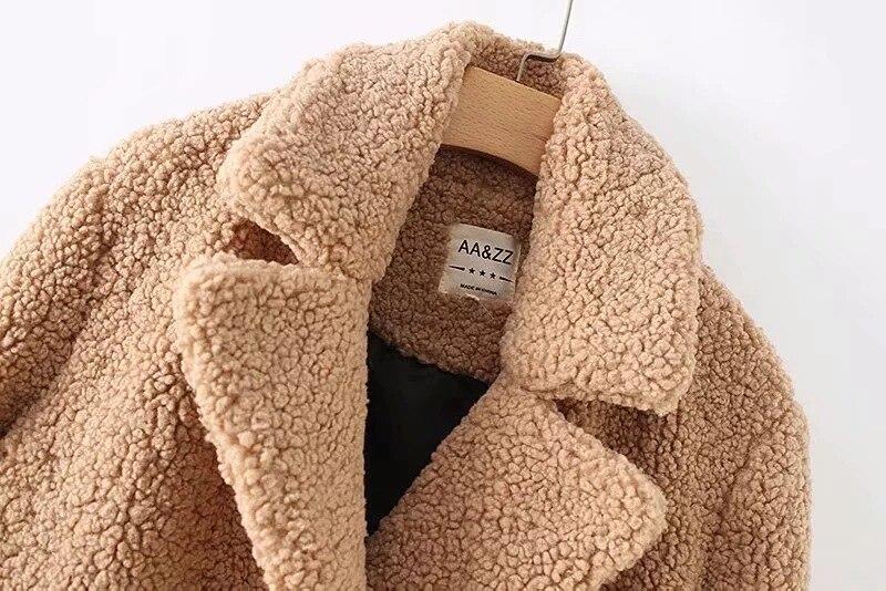 A Piel Abrigo Mujer Invierno Otoño Las Cálido Felpa Teddy Streetwear Fiesta Mujeres Sintética Outwear Tamaño Elegante De Plus xCqTwR
