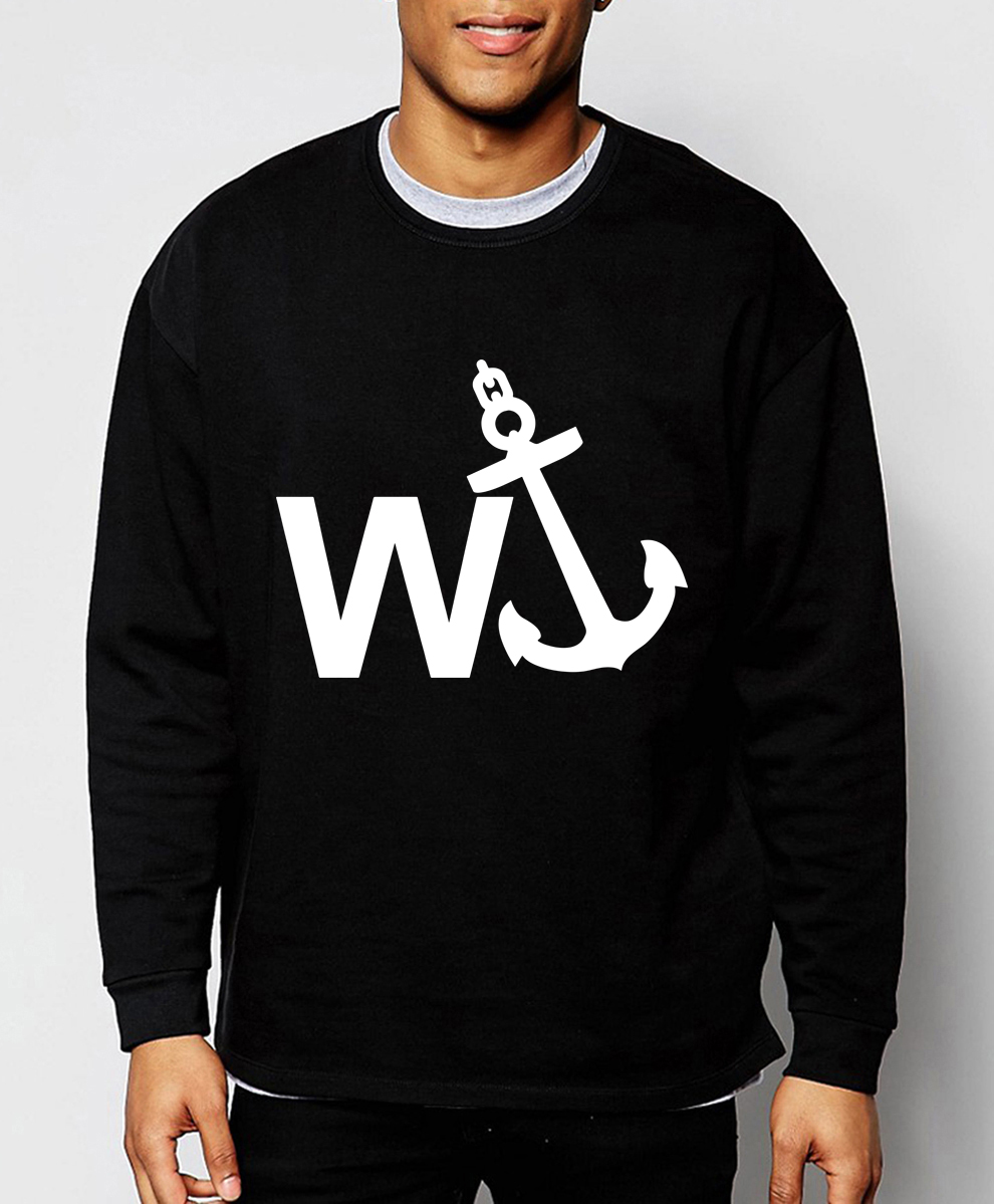 W'Anker Anchor Rude Comedy hot sale sweatshirt 2019 spring winter fashion men hoodies hip hop streetwear fleece brand hoodie