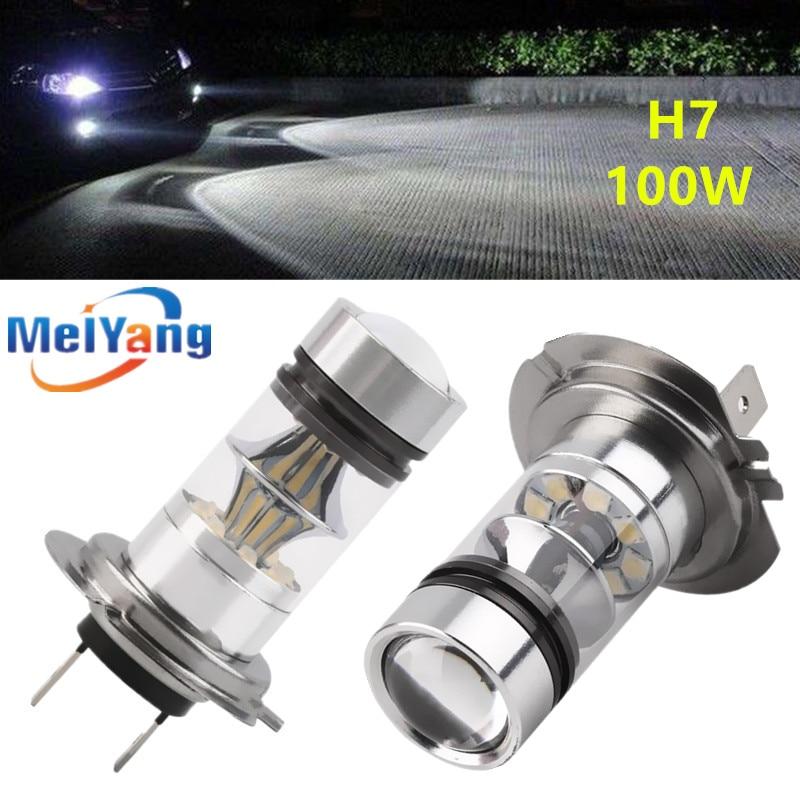 2 X H7 H11 9006 HB4 LED Bulb 12V~24V 360 Degree 20 Cree Chips Car Fog Light White Sourcing Lampochka Bombillas