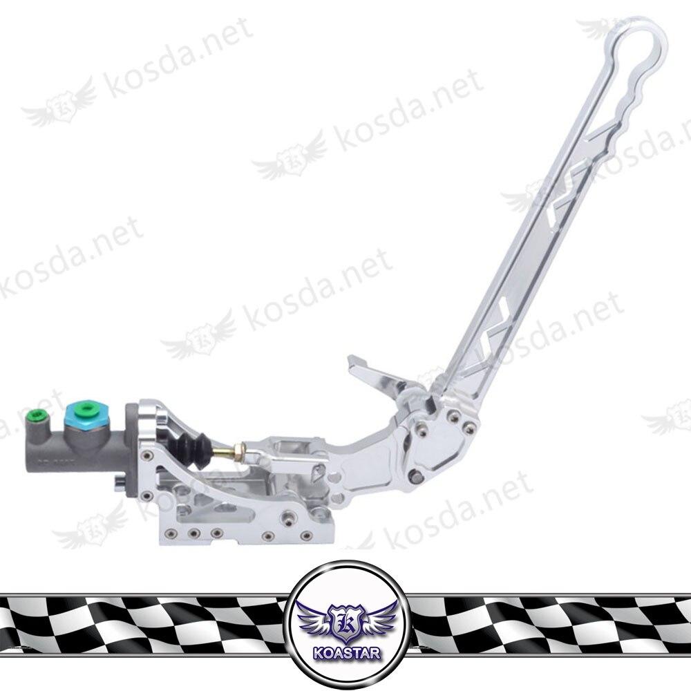 цена Universal Hydraulic Handbrake Horizontal Rally Drifting E-Brake Lever Silver Type-8 в интернет-магазинах