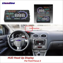 Liandlee Full Function HUD Car Head Up Display For Ford Focus 2 2010-2018 Safe Driving Screen OBD Data Projector Windshield