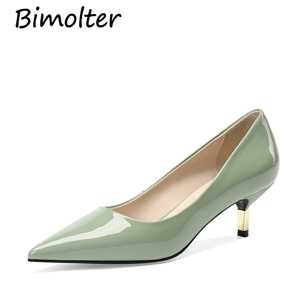 Bimolter Pointed Toe Patent Leather Pumps For Female Nude Heels Shallow Autumn Spring Slip-on Shoes Women Fashion Sexy Shoe C137Bimolter Pointed Toe Patent Leather Pumps For Female Nude Heels Shallow Autumn Spring Slip-on Shoes Women Fashion Sexy Shoe C137