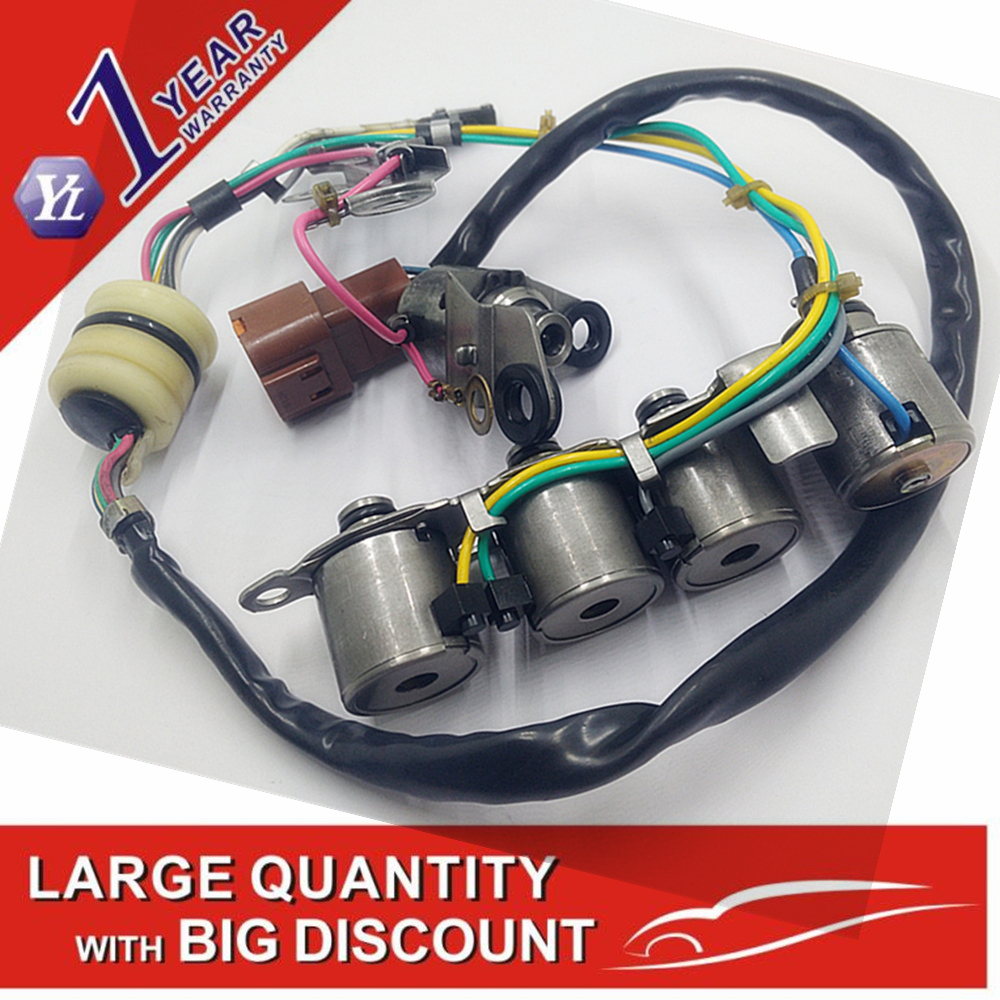 Genuine used RE4F04A 4F20E Long Wire Design Solenoid Assembly Fits 1992-2006 RE4F04A 4F20E equipped Nissan