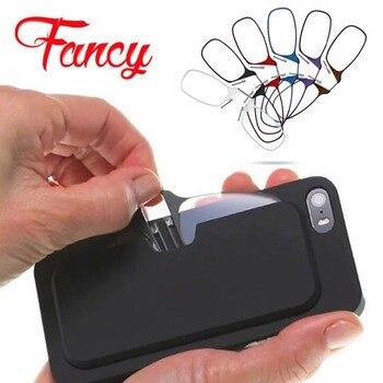 0cb618ce5f Clip de nariz fino portátil gafas de lectura para mujeres gafas ópticas  para hombres con caja cartera mini lectura teléfono móvil pegajoso caso