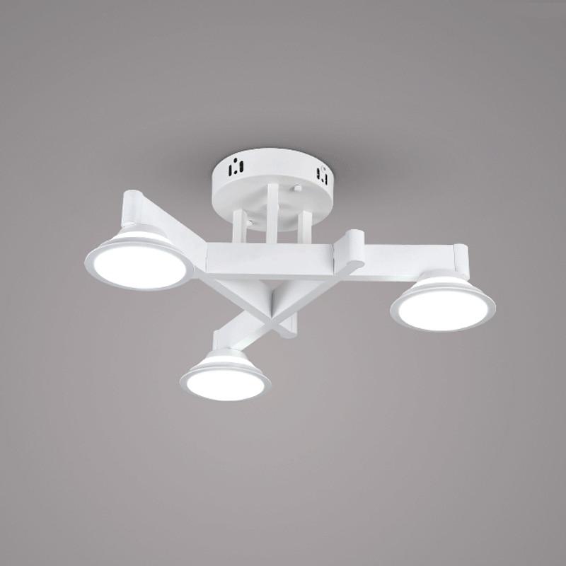 21W Modern Led Chandelier Ceiling Black Iron Acrylic Lampshade Light Living Room Bedroom Fashion Decoration Lamp 110-240V