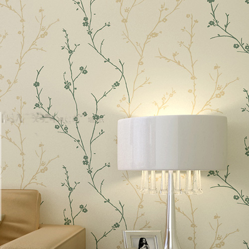 Classic Flock Textured Wallpaper Embosser Solid Tree Leaf Wall Paper Roll for Kids Living Room Home Improvement  Light Yellow non woven bubble butterfly wallpaper design modern pastoral flock 3d circle wall paper for living room background walls 10m roll