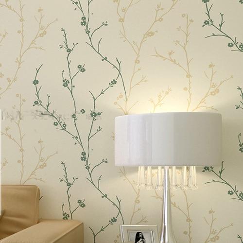⑥Rebaño clásica Textura Wallpaper Impresora Sólido Árbol de Hoja de ...