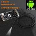 5.5mm Lens 1M Android OTG Phone Endoscope IP67 Borescope LED Camera video Lens Snake Pipe Inspection Android Borescope Camera