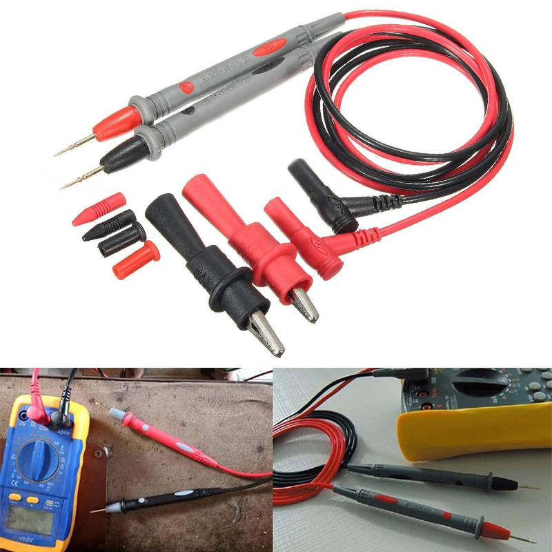 1000V 20A Probe Test Lead + Alligator Clips Clamp Cable Wire Test ...