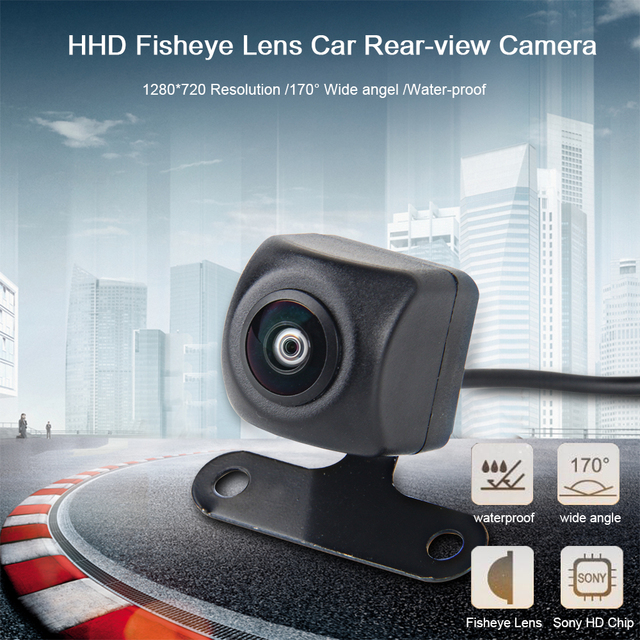 Dasaita Universal Car Rear View Camera with Fisheye HD lens Backup Camera Vechile Parking Assiantance Camera 170 Wide Angel