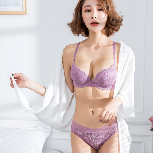 a12fd13fb1099 MINGMO 2018 New Bra Set Lace Embroidery Push Up Sexy Luxury Lingerie Japan  Small Girl Women Underwear Sets Ladies Bra   Panty