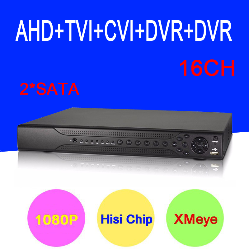 Hisiclion Sensor Dahua Exterior 16 Channel 5 in 1 1080P FUll HD Hybrid Coaxial TVI CVI AHD DVR NVR Only Free shipping To Russia