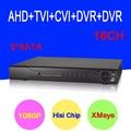 Sensor hisiclion dahua exterior 16 channel 5 en 1 1080 p full hd Coaxial híbrida CVI TVI AHD DVR NVR Sólo El Envío gratuito A Rusia