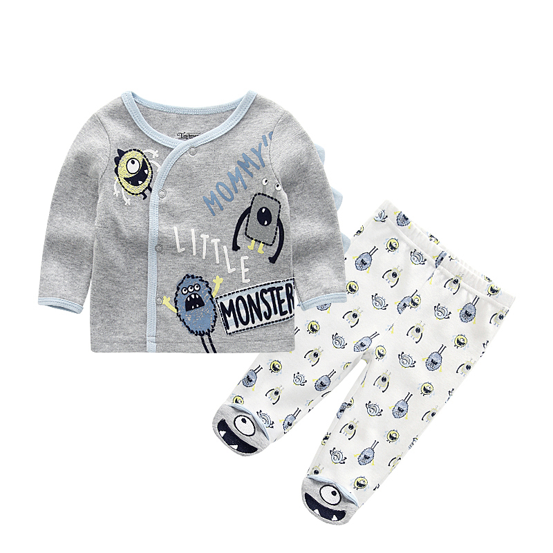 Baby Boys Children Clothing Set Tshirts+trousers Cotton Coat Newborn Girl Rompers Clothes Infant Toddler Summer Roupa De Bebe