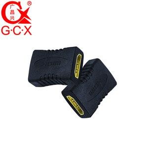 Image 3 - GCX משלוח חינם HDMI מתאם ממיר נקבה לנקבה 1080P ברזולוציה גבוהה HDMI כבל הארכת מצמד מחבר