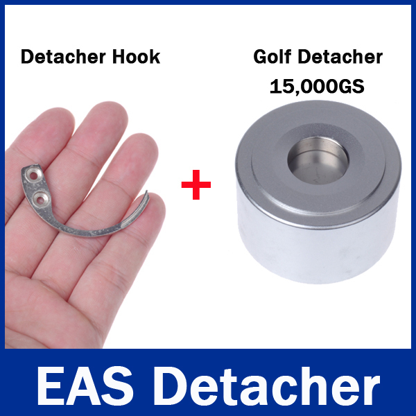 1Pc Strong Detacher Magnetic Force 15,000GS / 15000GS Detacher Security and 1Pc Detacher Hook Key Tag Remover EAS System