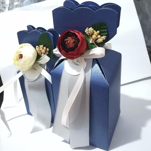 Fleur Artificielle Marine Bleu Boite Cadeau De Bonbons Chocolats
