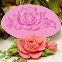 3D Rose Flower Cake Silicone Mold Fondant Cake Decorating Chocolate Candy Molds Resin Clay Soap Mould Kitchen Baking Cake Tools(China)