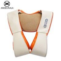 Angelruila U Shape Neck Massager Electric Shiatsu Back Shoulder Body Multifunction Infrared Kneading Home Car Massage