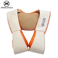Angelruila U Shape Neck Massager Electric Shiatsu Back Shoulder Body Multifunction Infrared Kneading Home Car Massage