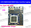 New Original GTX 980M Graphics Card GTX980M N16E-GX-A1 8GB GDDR5 MXM For Dell Alienware MSI HP sent by DHL /EMS free Shipping