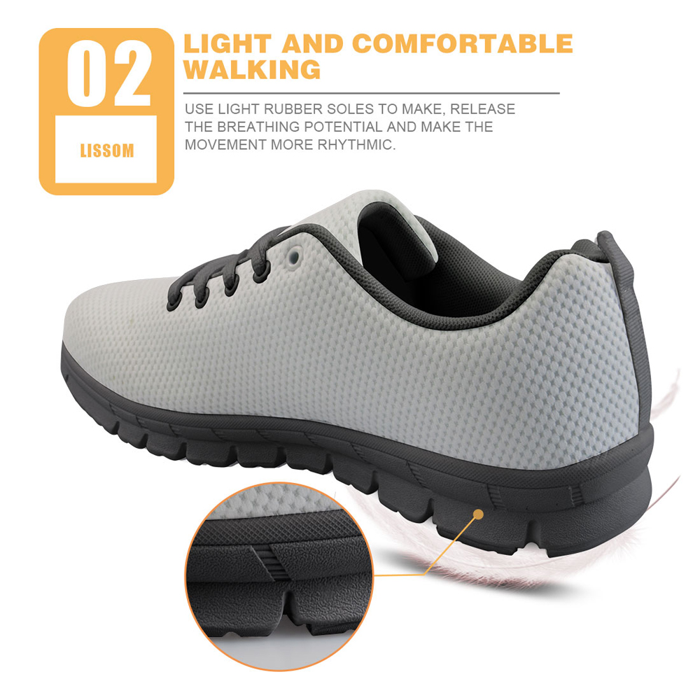 INSTANTARTS Boo Ghost Hunting Printing Mens Sneakers Leisure Lace Up Comfort Mesh Walking Shoes for Female Casual Men Shoes