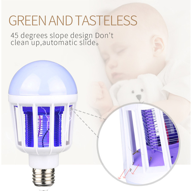 220V LED Mosquito Killer Bulb E27/B22 LED Bulb For Home Lighting Bug Zapper Trap Lamp Insect Anti Mosquito Repeller Light 3