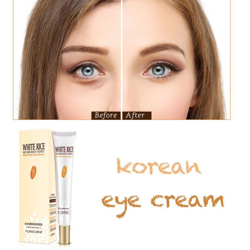 Han Chan white rice eye cream tender skin moisturizing fat granule replenishing eye essence relieve korean under(China)