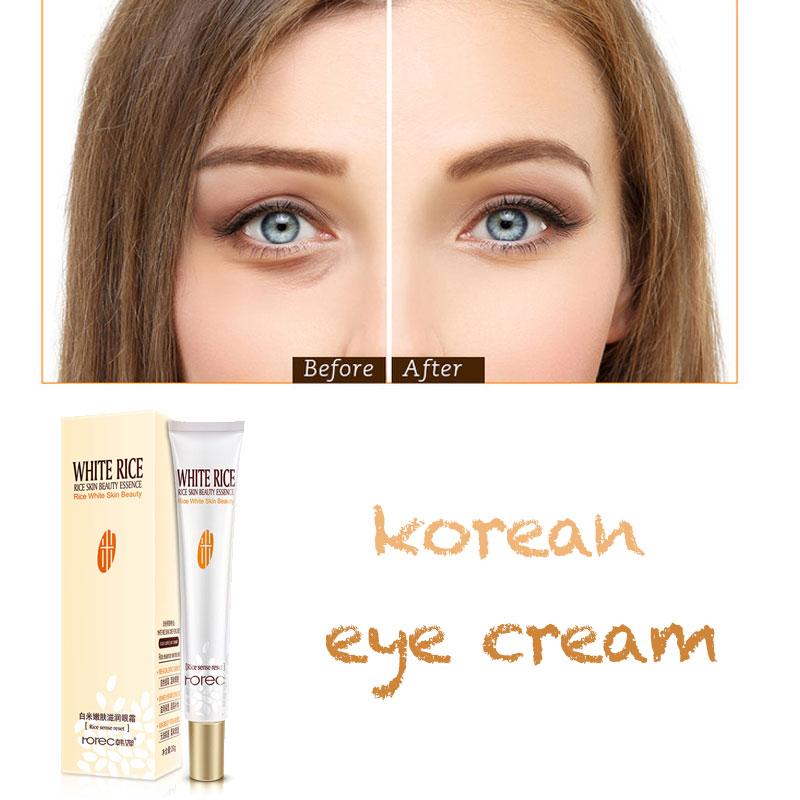 Han Chan White Rice Eye Cream Tender Skin Moisturizing Fat Granule Replenishing Eye Essence Relieve Korean Under