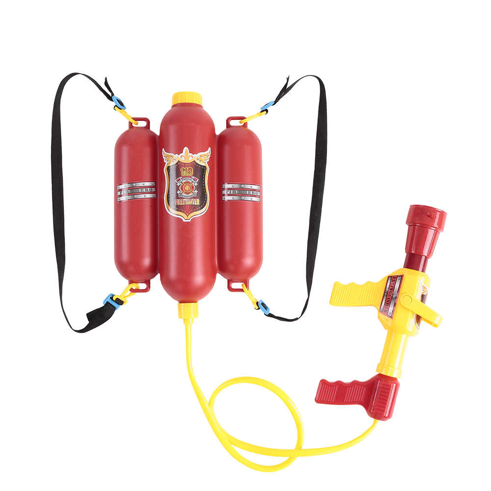 2018 Firefighter Water Toy Guns Fireman Sam Pressure Toy with Backpack Outdoor Summer Toys Backpack Nozzle Spray Gun Water Toys