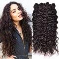 7A Não Transformados Peruano Virgem Cabelo Natural Wave 4 Bundles Peruano cabelo Humano Trama Encaracolado Feixes de Cabelo Molhado E Ondulado Encaracolado cabelo