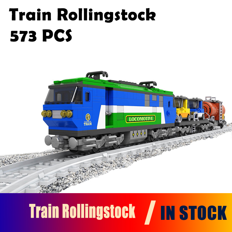 Transportation Model Building Block Set Compatible with lego Train Rollingstock 573 pcs Brick Educational Hobbies Toys loz mini diamond block world famous architecture financial center swfc shangha china city nanoblock model brick educational toys