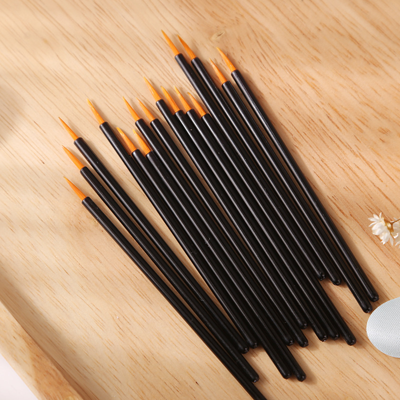 Miss Rose 10pcs/Bag Thin Eye Brush Eye Lip Brow Liner Draw Perfect Arrows Kind Of Makeup For Any Girl In A Characteristic Way