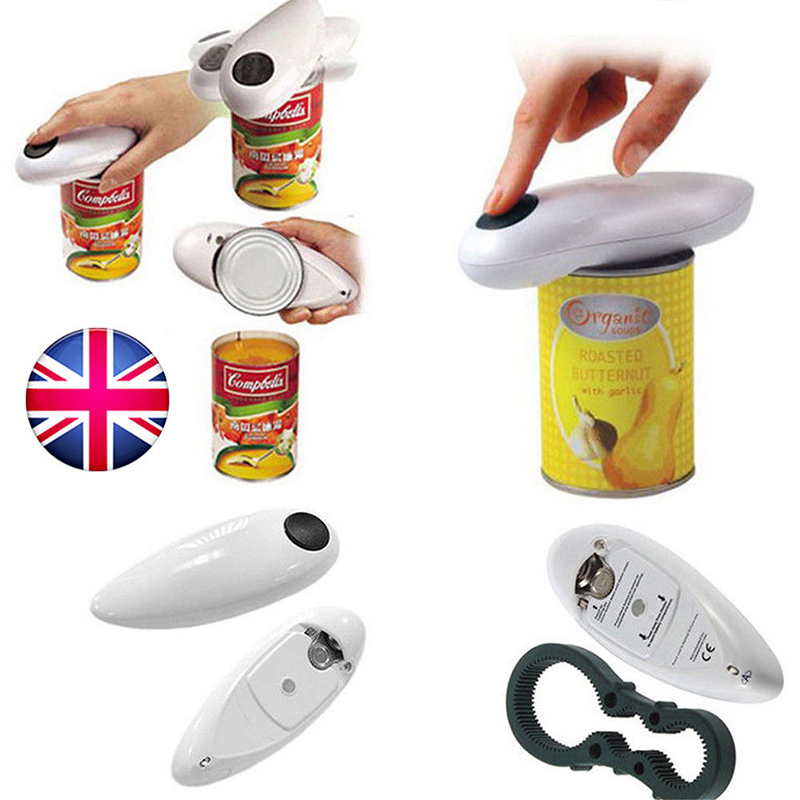 New Bottle Opener Canned Electric Bottle Opener Kitchen Gadgets Tool Electric Can Opener Portable One Touch Automatic Jar Opener