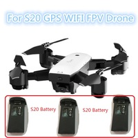 S20 Foldable Doubl GPS WIFI FPV Remote Control RC Drone Model Spare Parts Batttery 7.4V 900MAH Recharge Battery