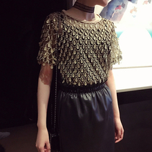 Free Shipping 2017 spring and summer new embroidery pendant round neck WWCHIC043001