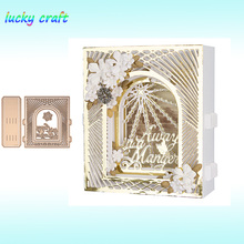 Luck YCraft Christmas 3D Card frame set Metal Cutting Dies for DIY Scrapbooking Embossing Paper Cards Making Crafts Cut