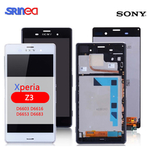 LCD For Sony Xperia Z3 LCD Display Touch Screen Digitizer Assembly Screen L55t D6603 D6643 D6653 Screen With Adhesive IPS ll trader white new display lcd replacement screen touch for sony xperia z3 d6603 d6643 lcd digitizer assembly frame free tools