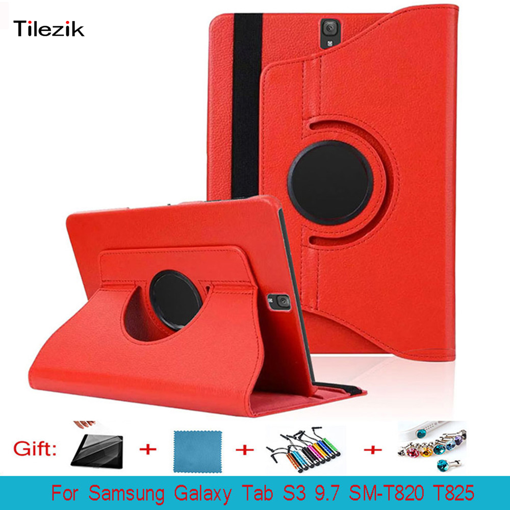 For Samsung Galaxy Tab S3 9.7 SM-T820 T825 PU Cover Case 360 Rotating Stand Leather Cover For Galaxy Tab S3 9.7 Tablet
