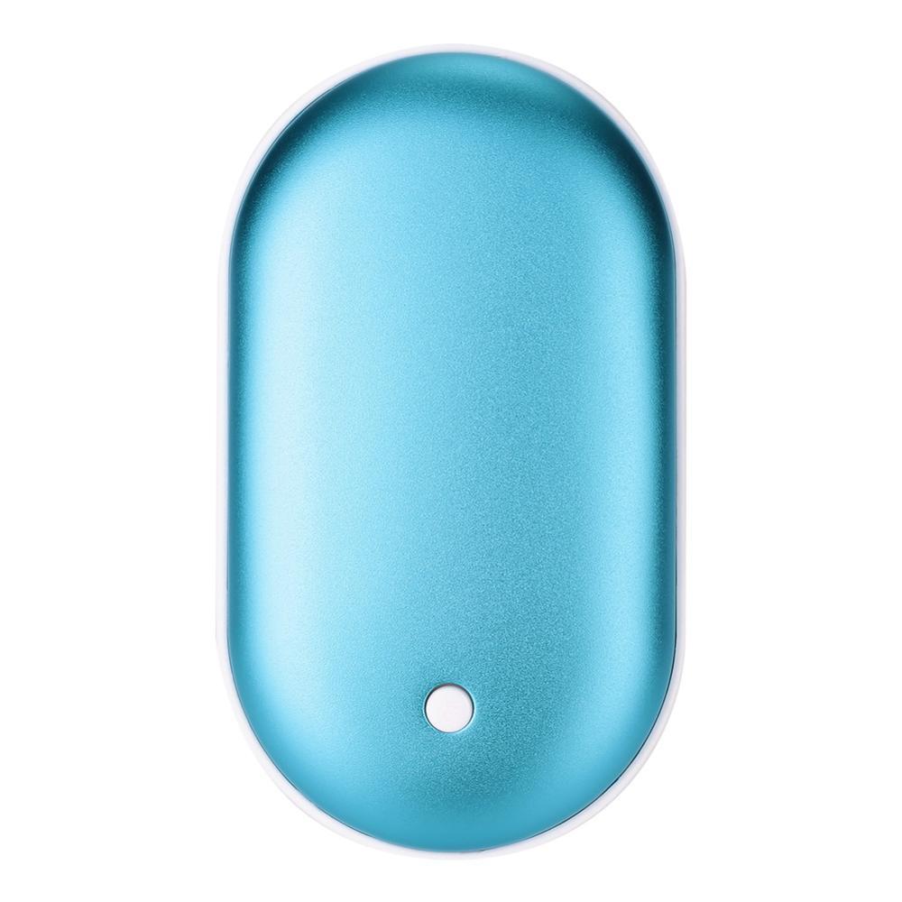 5200 мА/ч 5 в милый USB Перезаряжаемый СВЕТОДИОДНЫЙ Электрический подогреватель для рук и путешествий удобный долговечный Мини карманный нагреватель продукт для домашнего потепления - Цвет: sky blue