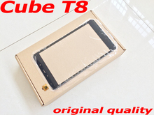 цена на Free Shipping Black 8 Touch Screen for Cube T8 Touchscreen External Panel Glass Capacitive Screen Replacement