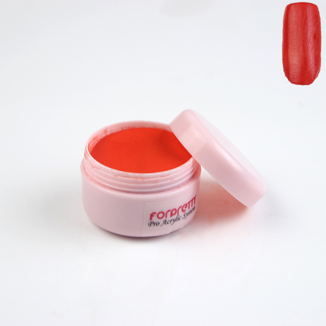 acrylic powder red
